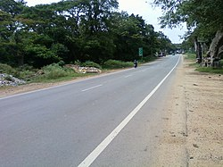 NH 209, Bangalore-Coimbatore National Highway passing through Kanakapur town.