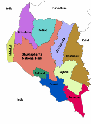 Divisions of Kanchanpur District