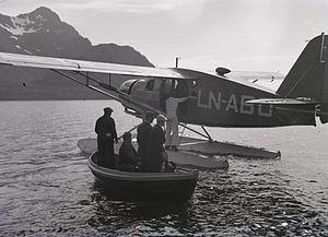 "Bellanca 31-40 - A Bellanca Senior Pacemaker ""LN-ABO"" pictured in Northern Norway late 1930s"
