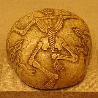 Kapala - Tibetan carved kapala