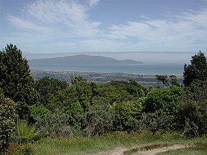 Waikanae - Waikanae seen from Hemi Matenga Reserve.