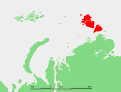Location of Severnaya Zemlya off northernmost continental Russia