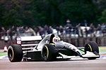 Karl Wendlinger - Sauber C12 during practice for the 1993 British Grand Prix (33302730550).jpg