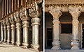 Karla caves Chaitya pillars vs Pandavleni Cave No10 pillars.jpg