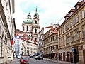 Karmelitská mit Blick auf die St.-Nikolaus-Kirche, Praha, Prague, Prag - panoramio.jpg
