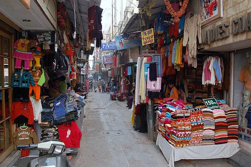 Karol Bagh Flea Market in Delhi