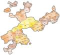 Karte Gemeinden des Kantons Solothurn farbig 2014.png