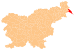 The location of the Municipality of Lendava