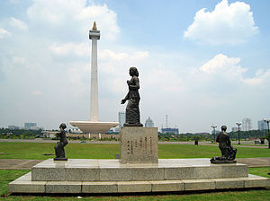 Kartini - Kartini statue at the east park of Merdeka Square, Jakarta.