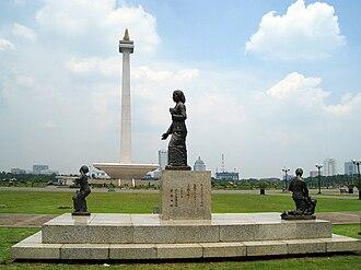 Kartini - Kartini statue at the east park of Merdeka Square, Jakarta.