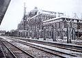 Keijo Station under construction, 1924-10 (platform).jpg