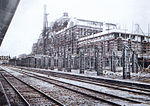 Keijo Station under construction, 1924-10 (platform).jpg