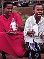 Kenya children drinking milk (8360059361).jpg