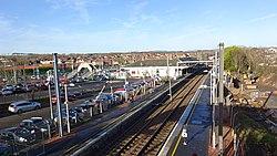 Kilwinning railway station, North Ayrshire. View of Glasgow - Ayr platforms.jpg