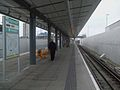 King George V DLR stn look west.JPG