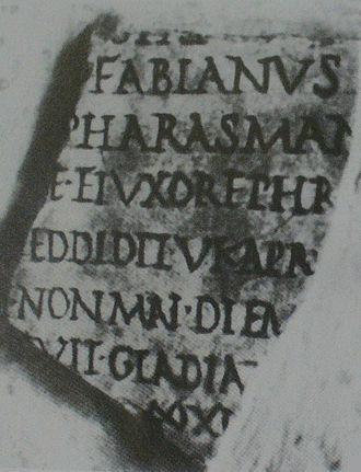 Fasti Ostienses - Image: King Pharasmanes on Fasti Ostienses