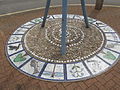 Kings Norton Station Car Park - overflow - steel sculptures - mosaic (17179334802).jpg