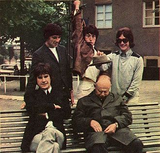 The Kinks - Publicity photo taken during a Swedish tour in 1965