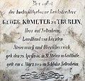 Klagenfurt Seltenheim Grabstein-Inschrift Georg Kometer zu Truebein 26052016 3229.jpg