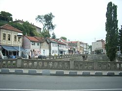 Town's Old Part at the river Timok