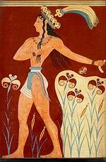 Pintura mural em Cnossos.