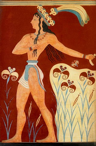 Prince of the Lilies fresco from Knossos