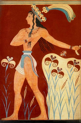 "Minoan civilization - The ""Prince of Lilies"" Fresco from Knossos"