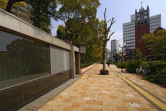 Kenchōmae Station (Hyōgo) - Station entrance
