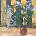 Kolo Moser - Blumenstock und Keramikkrug - 1912.jpeg
