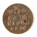 Kopparmynt, 3 pfenning, 1776 - Skoklosters slott - 109750.tif