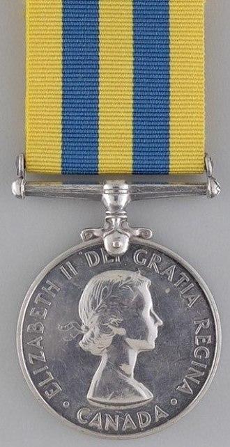 Korea Medal - Obverse of Canadian version