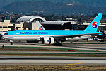 Korean Air Cargo Boeing 777 at LAX (22747754660).jpg