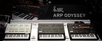 ARP Odyssey - Image: Korg ARP Odyssey 3 colors 2015 NAMM Show clip 2