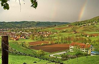Kostajnica, Bosnia and Herzegovina - Image: Kostajnica landscape