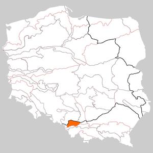Oświęcim Basin - Image: Kotlina Oświęcimska