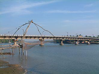 Kottapuram -  Kottapuram river, and bridge amidst some Chinese fishing nets
