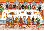 A meal at the court of Emperor Ferdinand I, 1558.