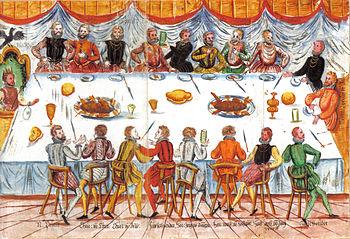 Ferdinand's coronation meal in Frankfurt