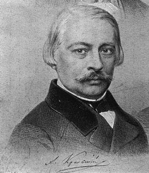 Andrey Krayevsky - 1856 portrait by Vasily Timm