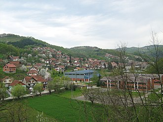 Krupanj - Panoramic view on Krupanj