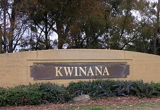 City of Kwinana - Road side sign for central Kwinana.