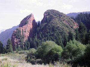 Jeti-Ögüz District - Image: Kyrgyzstan Canyons Dzhety Oguz 001