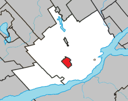 Location within Quebec TE.
