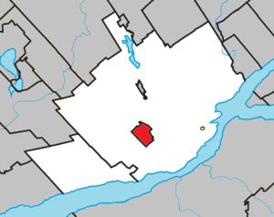 L'Ancienne-Lorette, Quebec - Image: L'Ancienne Lorette Quebec location diagram