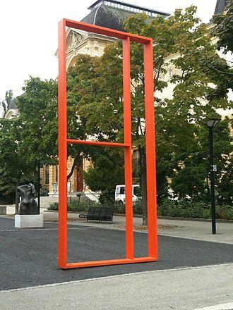 Günther Förg - L'Horrible (2007), public sculpture in Neuchâtel, Switzerland.