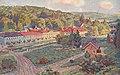 Lázně Luhačovice, pohlednice, obraz Stanislava Lolka, prošlá poštou 1917.jpg