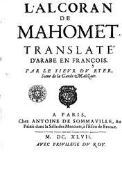 André Du Ryer: L'Alcoran (Traduction de Du Ryer)