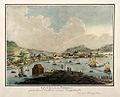 La vile de Bergen prise d' une Batterie nommé Hæggrénsset.jpg