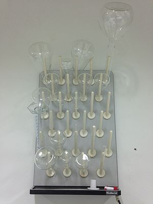 Laboratory drying rack - Image: Lab Drying Rack