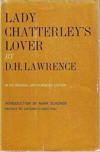 "An ""unexpurgated"" edition of Lady Chatterley's Lover (1959)"